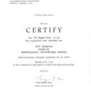 First Eropean hand on Sclerotherapy seminar Stuttgart 28 29 1996
