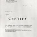 Prof Dott Marco Gasparotti Certificate 1994